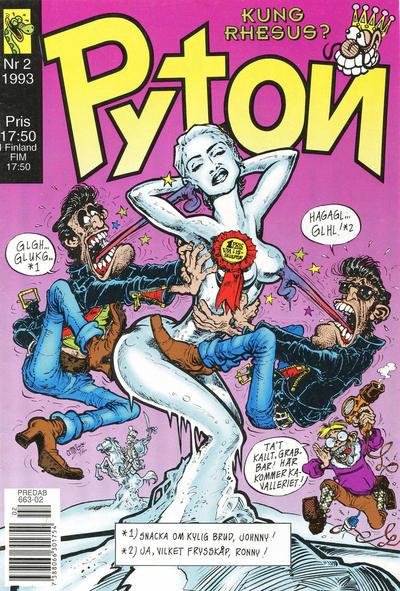 Cover for Pyton (Atlantic Förlags AB, 1990 series) #2/1993
