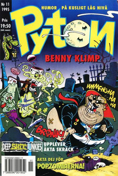 Cover for Pyton (Atlantic Förlags AB, 1990 series) #11/1995