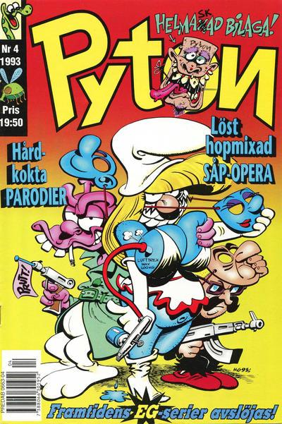 Cover for Pyton (Atlantic Förlags AB, 1990 series) #4/1993