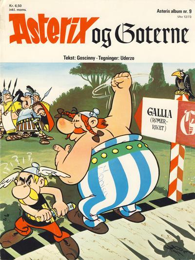 Cover for Asterix (Hjemmet / Egmont, 1969 series) #9 - Asterix og goterne [1. opplag]