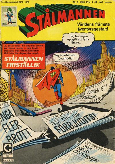 Cover for Stålmannen (Centerförlaget, 1949 series) #3/1969