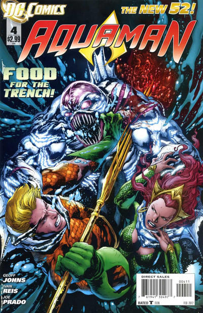 Cover for Aquaman (DC, 2011 series) #4