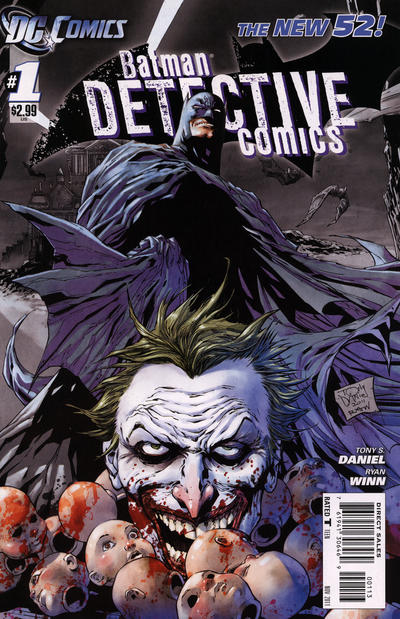 Cover for Detective Comics (DC, 2011 series) #1 [4th Printing - Grayscale]