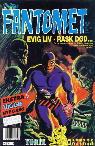 Cover for Fantomet (Semic, 1976 series) #24/1990