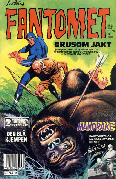 Cover for Fantomet (Semic, 1976 series) #25/1990
