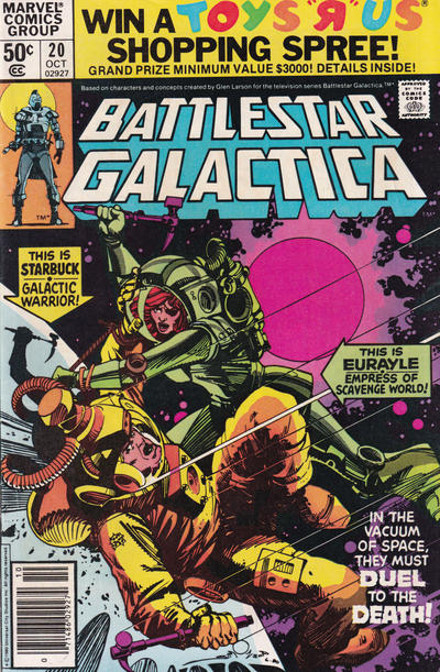 Cover for Battlestar Galactica (Marvel, 1979 series) #20 [Direct Edition]