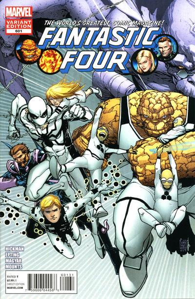 Cover for Fantastic Four (Marvel, 2012 series) #601 [Camuncoli Variant]