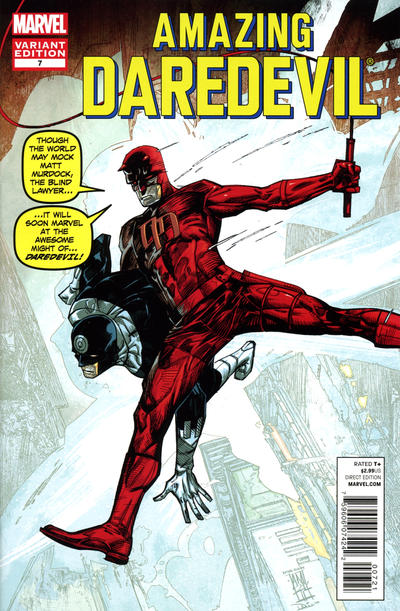 Cover for Daredevil (Marvel, 2011 series) #7 [Marvel Comics 50th Anniversary Variant Cover]