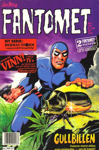 Cover for Fantomet (Semic, 1976 series) #1/1991