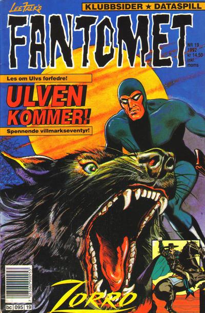 Cover for Fantomet (Semic, 1976 series) #19/1992