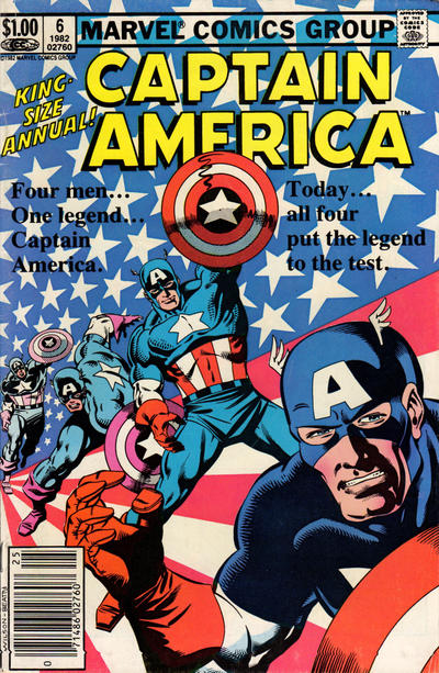 Cover for Captain America Annual (Marvel, 1971 series) #6 [Direct Edition]