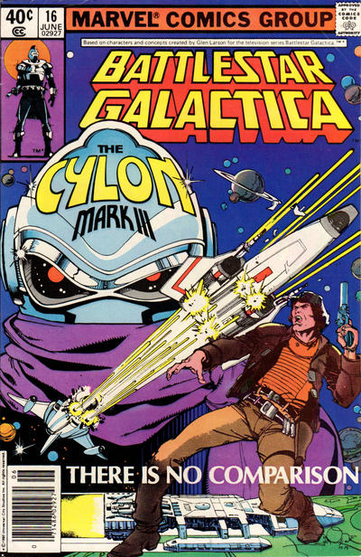 Cover for Battlestar Galactica (Marvel, 1979 series) #16 [Direct Edition]