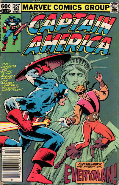 Cover for Captain America (Marvel, 1968 series) #267 [Direct Edition]