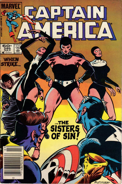 Cover for Captain America (Marvel, 1968 series) #295 [Direct Edition]