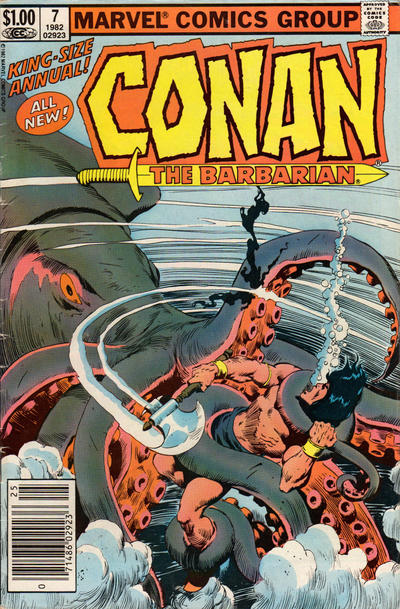 Cover for Conan Annual (Marvel, 1973 series) #7 [Newsstand Edition]