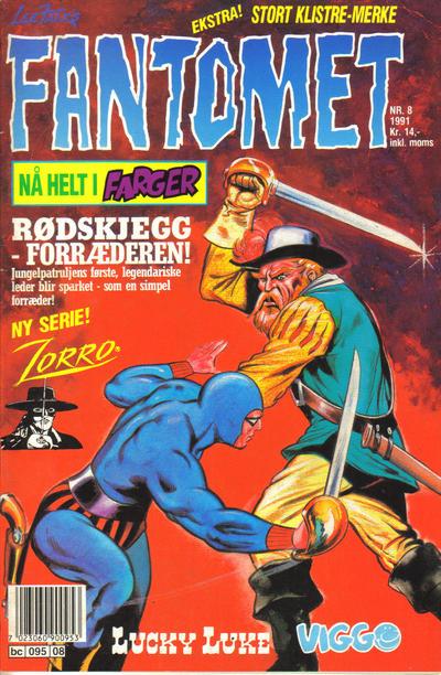 Cover for Fantomet (Semic, 1976 series) #8/1991