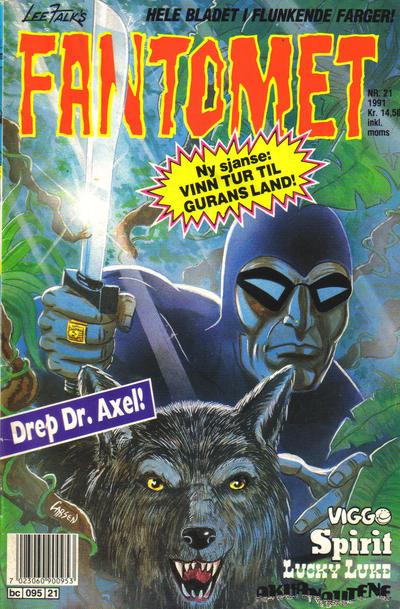 Cover for Fantomet (Semic, 1976 series) #21/1991
