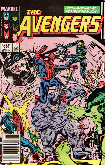 Cover for The Avengers (Marvel, 1963 series) #237 [Direct Edition]