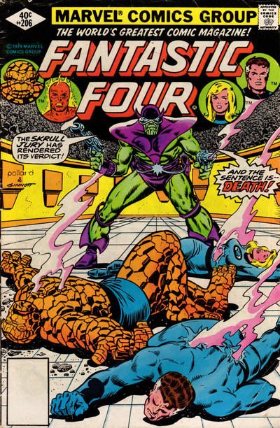 Cover for Fantastic Four (Marvel, 1961 series) #206 [Newsstand Edition]