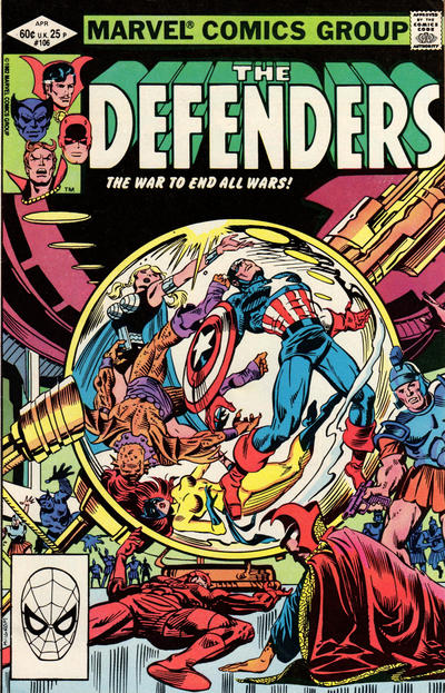 Cover for The Defenders (Marvel, 1972 series) #106 [Direct]