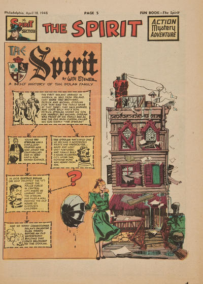 Cover for The Spirit (Register and Tribune Syndicate, 1940 series) #4/18/1948