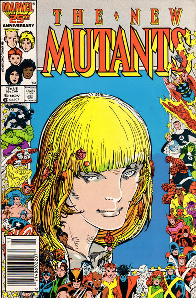 Cover for The New Mutants (Marvel, 1983 series) #45 [Newsstand Edition]