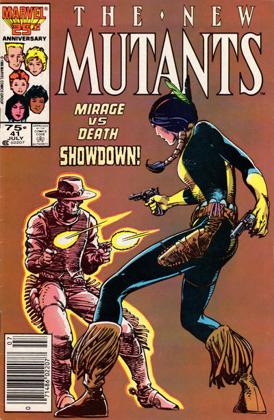Cover for The New Mutants (Marvel, 1983 series) #41 [Newsstand Edition]