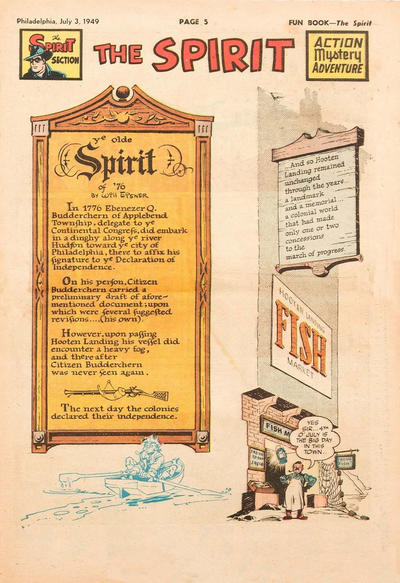 Cover for The Spirit (Register and Tribune Syndicate, 1940 series) #7/3/1949