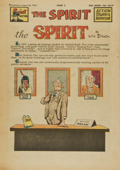 Cover for The Spirit (Register and Tribune Syndicate, 1940 series) #8/28/1949