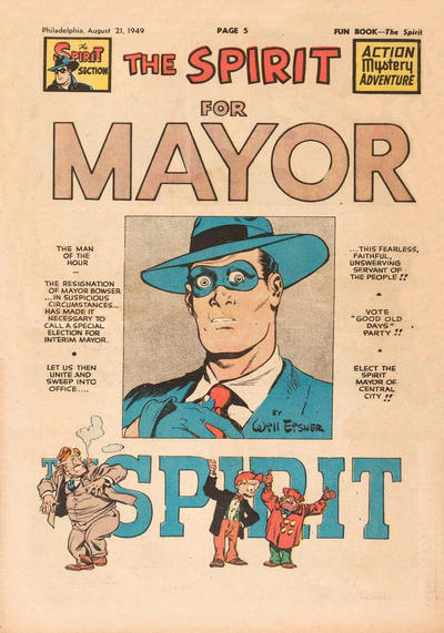 Cover for The Spirit (Register and Tribune Syndicate, 1940 series) #8/21/1949