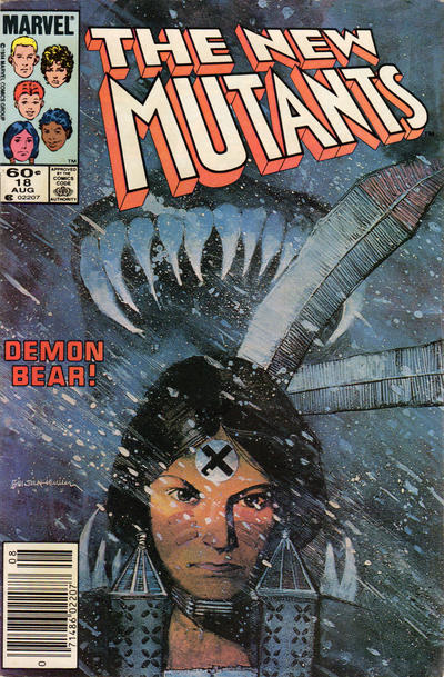 Cover for The New Mutants (Marvel, 1983 series) #18 [Newsstand Edition]
