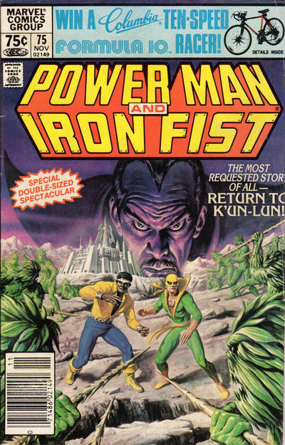 Cover for Power Man and Iron Fist (Marvel, 1981 series) #75 [Newsstand Edition]