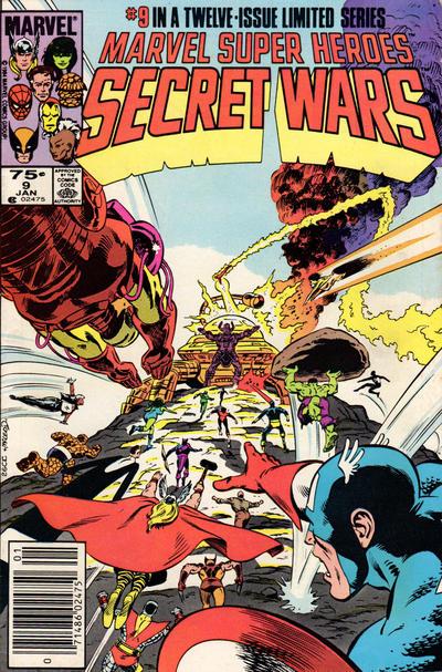 Cover for Marvel Super-Heroes Secret Wars (Marvel, 1984 series) #9 [Newsstand Edition]