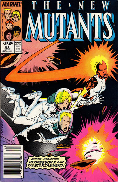 Cover for The New Mutants (Marvel, 1983 series) #51 [Newsstand Edition]