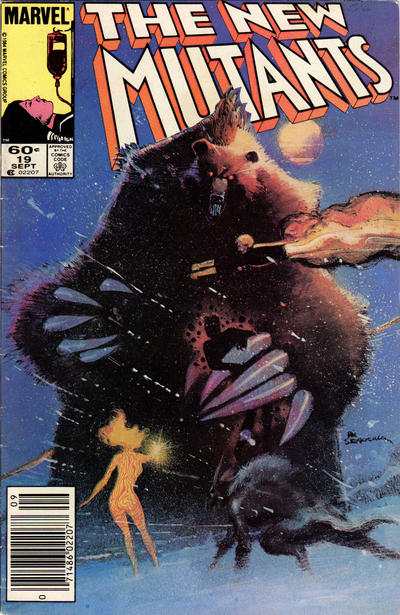 Cover for The New Mutants (Marvel, 1983 series) #19 [Direct Edition]