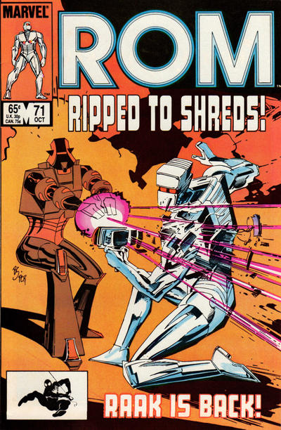 Cover for ROM (Marvel, 1979 series) #71 [Newsstand Edition]