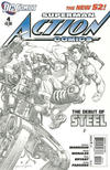 Cover for Action Comics (DC, 2011 series) #4 [Rags Morales Sketch Cover]