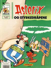 Cover Thumbnail for Asterix (Hjemmet / Egmont, 1969 series) #10 - Asterix og styrkedråpene [6. opplag Reutsendelse 147 36]