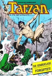 Cover Thumbnail for Tarzan (Atlantic Forlag, 1977 series) #3/1981