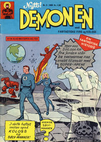 Cover for Demonen (Serieforlaget / Se-Bladene / Stabenfeldt, 1969 series) #3/1969