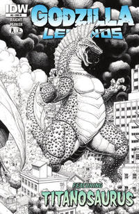 Cover for Godzilla Legends (IDW, 2011 series) #3 [Retailer Incentive Cover]