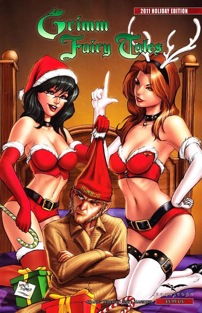 Cover for Grimm Fairy Tales Holiday Edition (Zenescope Entertainment, 2009 series) #3 [Zenescope Exclusive 'Sela' Variant - Eric Basaldua]