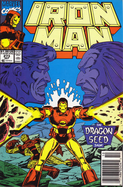 Cover for Iron Man (Marvel, 1968 series) #273 [Direct Edition]