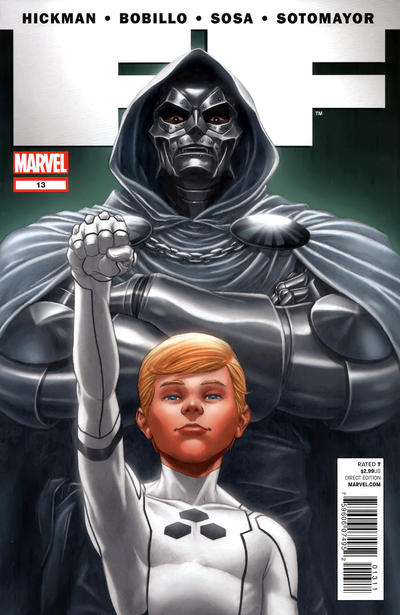Cover for FF (Marvel, 2011 series) #13 [Connecting Cover]