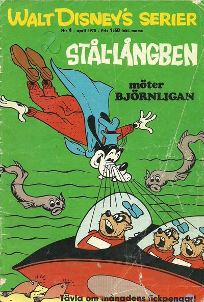 Cover for Walt Disney's serier (Hemmets Journal, 1962 series) #4/1970