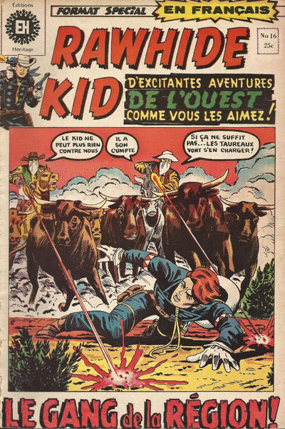 Cover for Rawhide Kid (Editions Héritage, 1970 series) #16