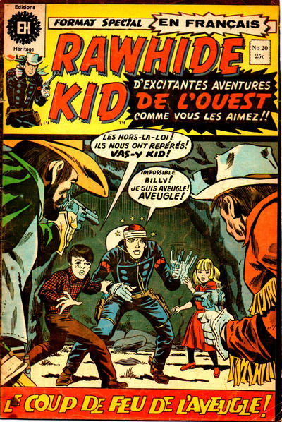 Cover for Rawhide Kid (Editions Héritage, 1970 series) #20