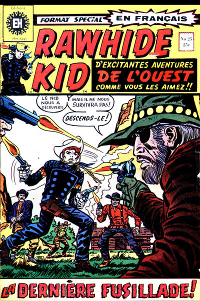 Cover for Rawhide Kid (Editions Héritage, 1970 series) #25