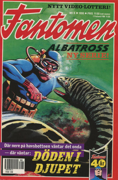 Cover for Fantomen (Semic, 1963 series) #8/1990