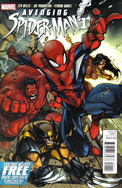 Cover for Avenging Spider-Man (Marvel, 2012 series) #1 [Variant Edition - Blank Cover]